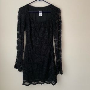 GUESS COLLECTION Long Sleeve Black Lace Dress 2